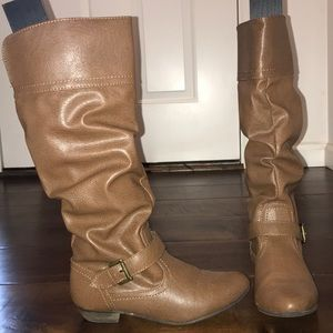 Mossimo Supply Co Cognac Boots - Size: 6.5